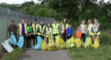 Young people from local schools help Friends of the River Callan on a community litter pick event along the banks of the River Callan.